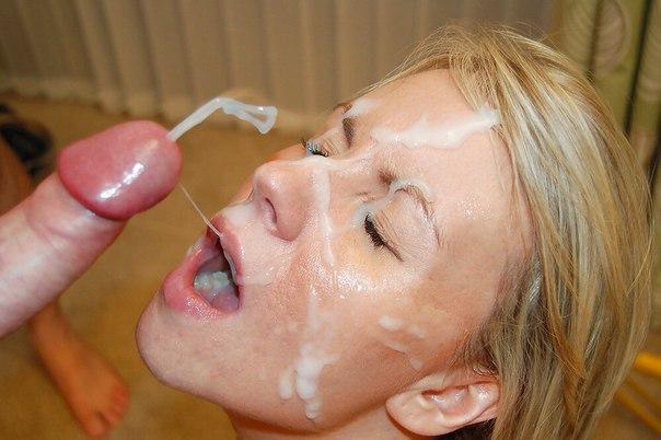 Лица и ротики девок залитые спермой