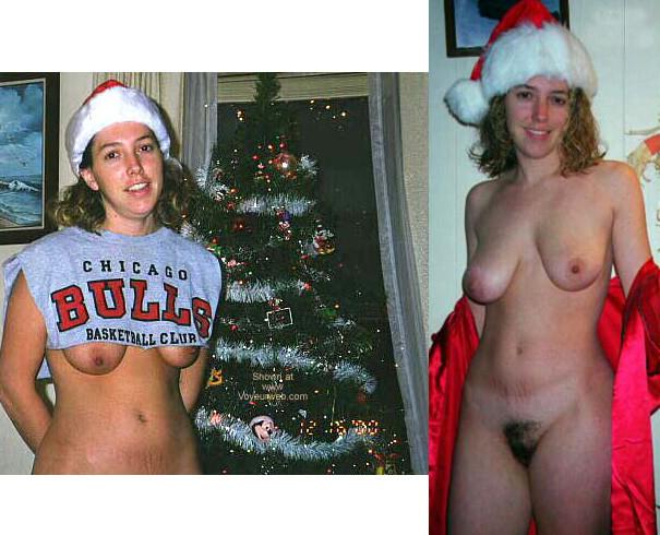 В преддверии Нового года девушки снимают одежду и показываются свои тела без нижнего белья или в возбуждающем костюме