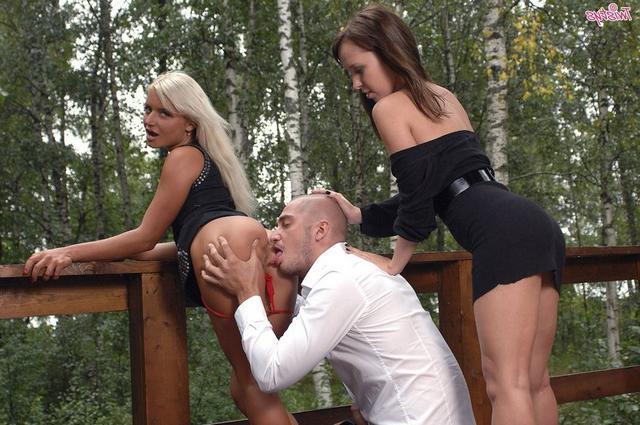 Ваня поимел 2-х знойных потаскушек секс-фото