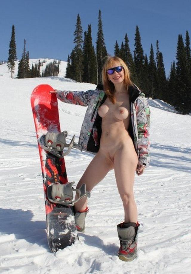 Карпатская сучка фоткается на снегу секс фото